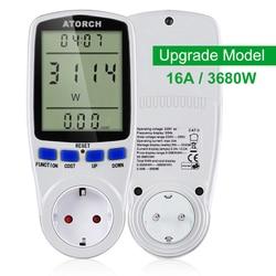 ATORCH 220v zasilanie prądem zmiennym miernik cyfrowy watomierz energia ue watt kalkulator monitor zużycie energii elektrycznej analizator gniazda pomiarowego w Liczniki energii od Narzędzia na