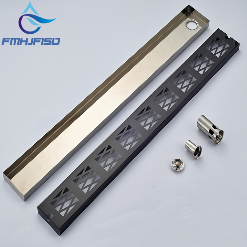 Wholesale And Retail Luxury Oil Rubbed Bronze Floor Mounted Drainer Modern Square Bathroom Accessories Shower Drain Stainless modern 90 10 cm oil rubbed bronze style deodorization grate waste floor drain floor mounted