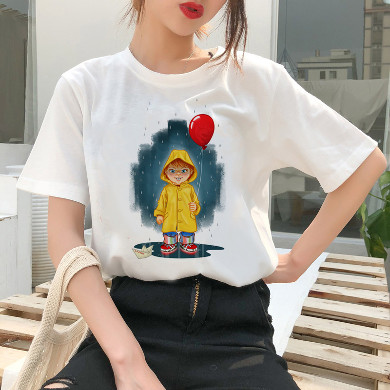 chucky t shirt Horror High cool women top Quality new streetwear tee t-shirt fashion ulzzang female shirts femme new tshirt 15