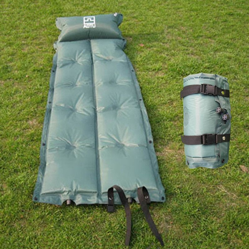 Outdoor Automatic Inflatable High Rebound Sponge Moisture-proof self inflating mat  with Pillow Cushion Sleeping Pad for Camping mc 7806 digital moisture analyzer price with pin type cotton paper building tobacco moisture meter