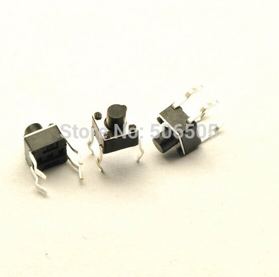 Free shipping 4.5X4.5X5mm 4pin DIP Tactile Tact Mini Push Button Switch Micro Switch Momentary 100pcs/lot