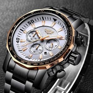 Image 2 - LIGE Mens Watches Top Brand Luxury Fashion Quartz Clock Mens Waterproof Big Dial Watch Men Military Sport Watch Erkek Kol Saati