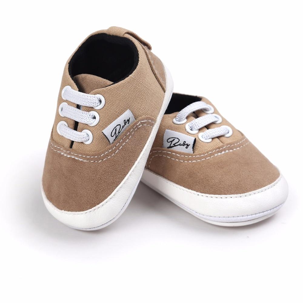 Baby Baby Babyschoenen Mode Ondiepe Canvas Mocassins Lace-Up Sneakers - Baby schoentjes - Foto 4