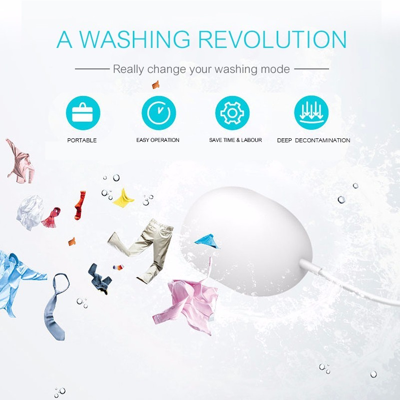 Portable Mini ultrasonic automatic washing machine baby laundry travel dolfi mini maquina de lavar roupa