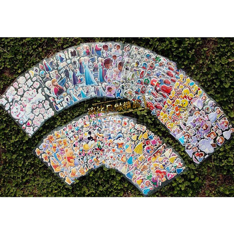 48Pcs/Set Stickers kids kawaii puffy cartoon 3d stickers vintage suitcase sticker wall notebook scrapbook Free shipping quality cartoon garden pattern removeable wall stickers