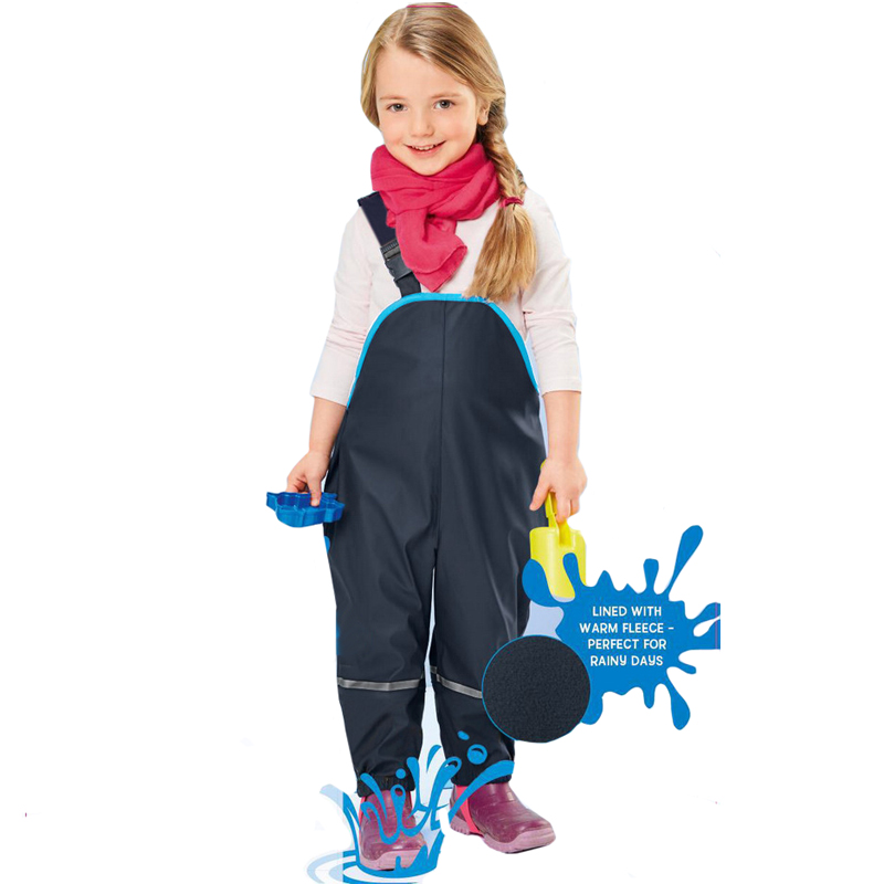 Girls Boy Waterproof Overalls Cotton Padded Trousers Outdoor Pants German Quality Kid Windproof Pants Rain 110