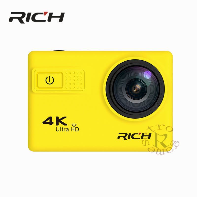 DHL F68B Action Camera 4K Wifi 2.0LCD Action Cam UHD Waterproof Sport Outdoor Video Camera 12MP 170 Degree Mini DV Camcorder 4k 30fps action camera wifi 1080p uhd 2 0 lcd screen 30m waterproof diving 170 degree sport action camera dv camera