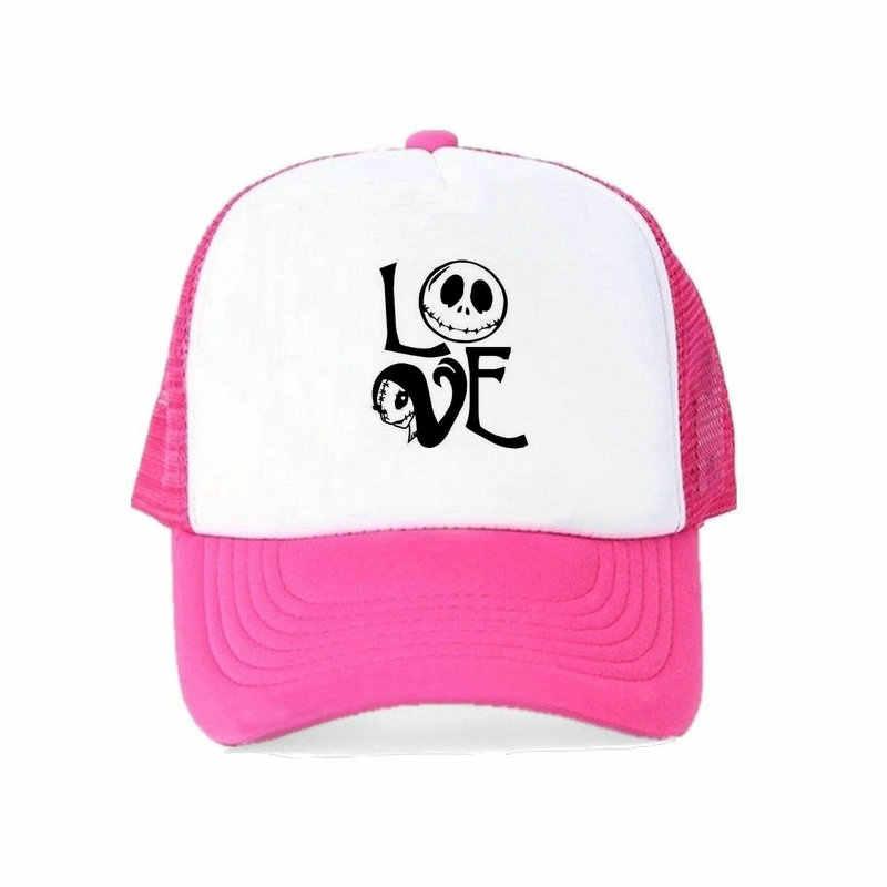 ... Nightmare Before Christmas Cartoon Hat Jack Skellington Baseball Cap  Men Evil Nightmare Skip Hop Hat Love ... 7a381921a994