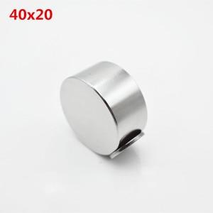 Image 4 - Magnete al neodimio 40x20 2pcs terre rare super forte potente ciclo di saldatura di ricerca permanente magnete 40*20mm gallio metallo magnete