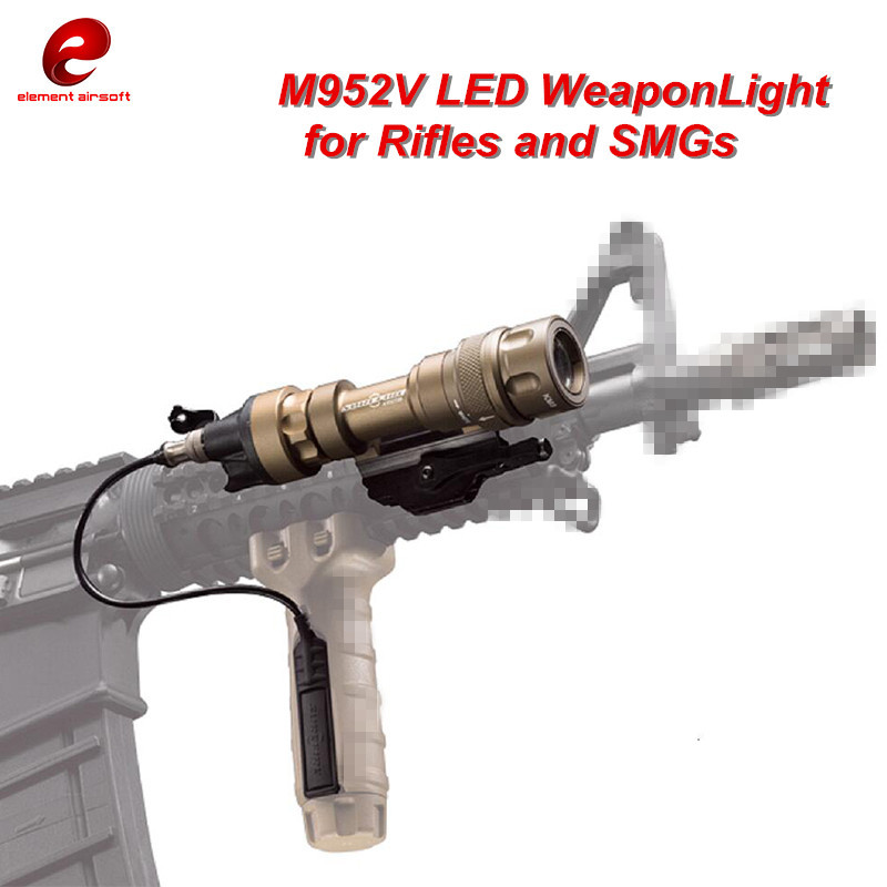 Airsoft SF M952V LED Tactical Weapon Light CREE Q5 Rifles Flashlight White and IR Output Softair EX192 WATERPROOF AND SHOCKPROOF greenbase sf tactical m300v ir scout light weaponlight white and led ir flashlight constant momentary output 20mm rail