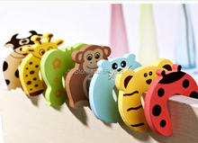 5PC lovely 7 styles cartoon baby safety door stopper holder lock baby care protection edge corner guard protector(China)