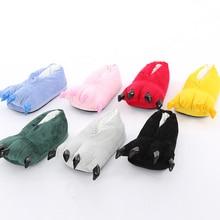 Huaraches/кроссовки; милые тапочки с забавными животными в виде лап; тапочки с героями мультфильмов; теплая мягкая плюшевая зимняя домашняя обувь; подходящие комбинезоны
