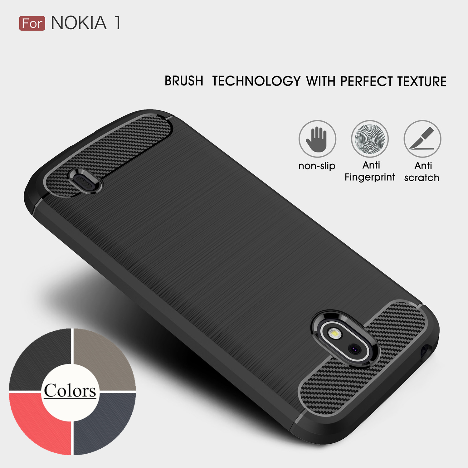 online store e74f2 476b6 Case for Nokia 1 TPU Silicone Case Ultra thin Soft Cover Matte Feel ...