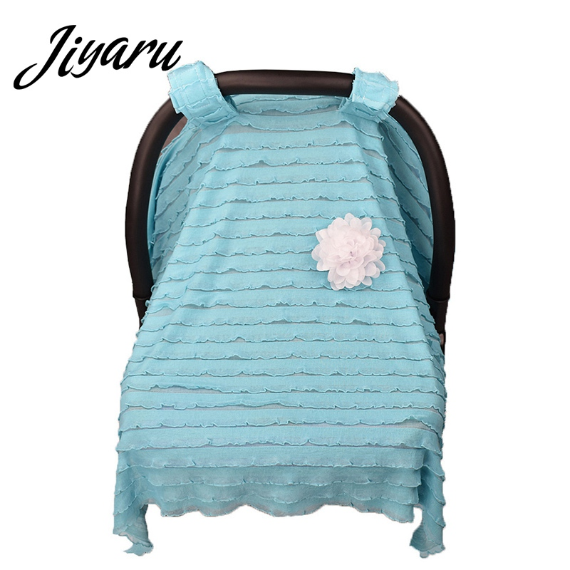 Infant Car Seat Canopy Cover for Baby Nursing Cover Scarf for Mum Breastfeeding Baby Car Seat Cover Scarf Blanket Shopping Cart