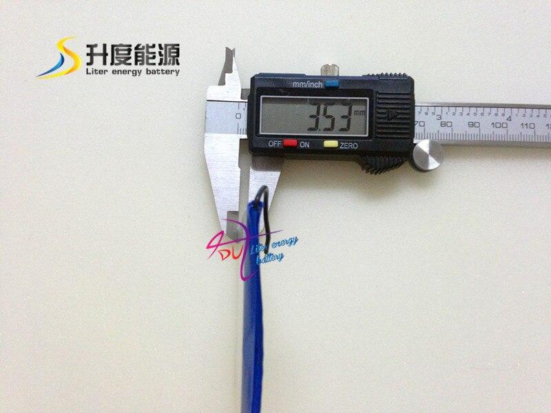 1800mah High capacity 356070 3.7v Li Polymer Rechargeble Battery