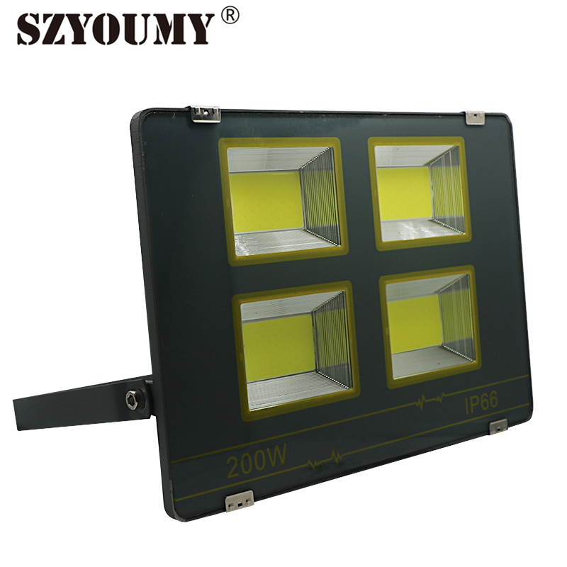 SZYOUMY Playground LED Flood Light AC85 265V IP66 Waterproof LED COB Street Light 50W 100W 200W 300W 400W High Lumen Spotlight