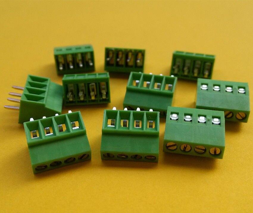 "6 Pin Terminal Block Škoda 1j0973713: 20pcs 4 Poles/4 Pin 2.54mm/0.1"" PCB Universal Screw"