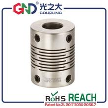 цена на Shaft coupling GND stainless stteel electric motor stepmotor beam flexible coupler of setscrew servo motor CNC quick-coupling