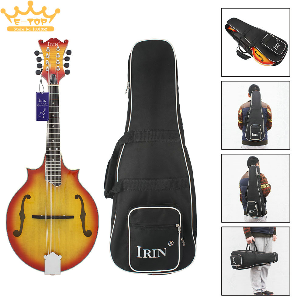IRIN High Quality Black Style Mandolin Backpack Oxford Frabic Large Size Durable Washable Fashional Bag captain corelli s mandolin