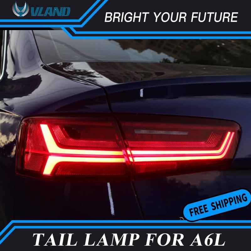 VLAND 2pcs Rear Lamp for Audi A6L A6 LED Tail Light 2012 2016 ear Lamp Certa taillight Automobile