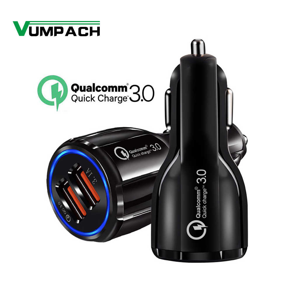 Cepat Charger Mobil QC3.0 2.0 Cepat Pengisian Kabel untuk Samsung Xiaomi Huawei Sony Android Charge Adaptor Data Tablet Mobil- charger
