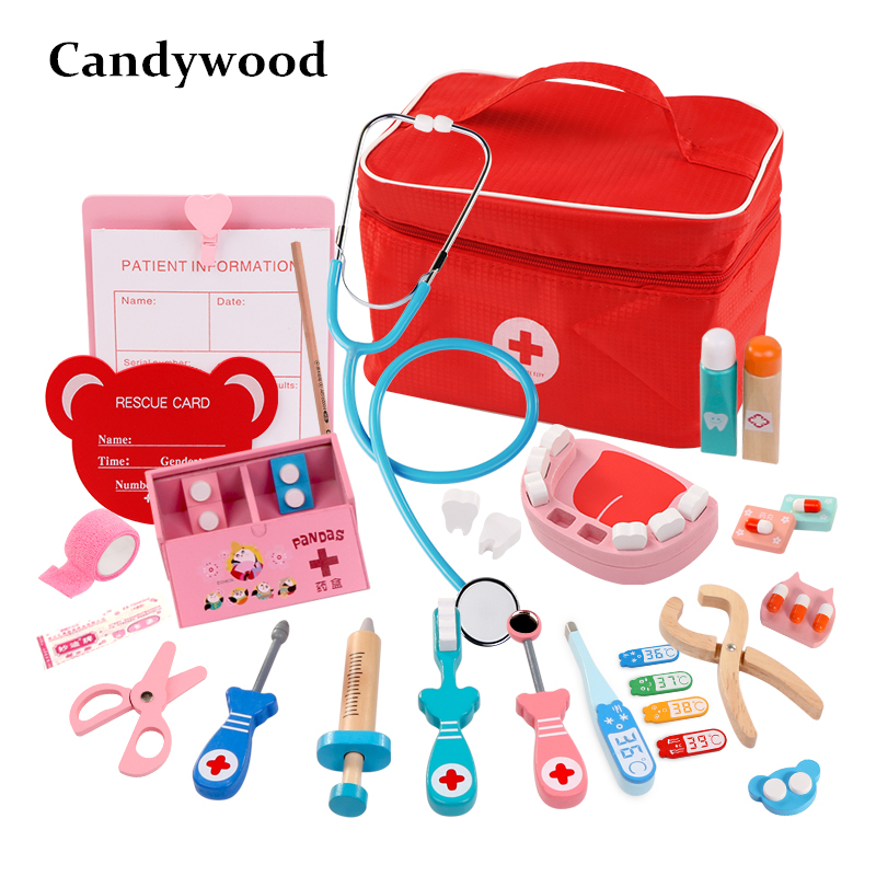 2019 NEW Kids Doctor Toys Role-playing Games Doctor Sets Dentist Medicine Box Pretend Doctor Play Toys for Children Girls