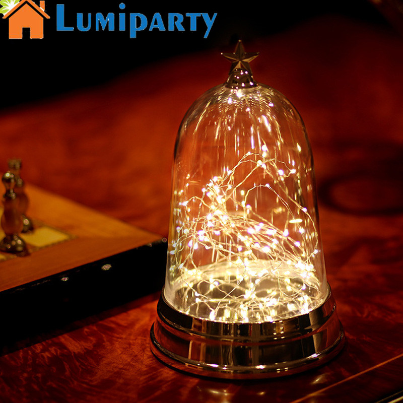LumiParty Creative Night Light LED Lamp Romantic Fireworks Art Work Crafts Lamp with Transparent Cover Valentines Day Gift