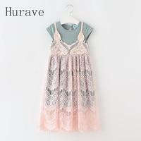 Korean Style Lace Girl Clothing Fashion New Dress For Girl Vestidos Summer Children Clothing Girls Dress