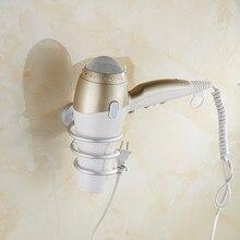 Dofaso фен-стойка для ванной комнаты фен Полка Настенная Ванная комната Душ Органайзер настенная подставка держатель для хранения