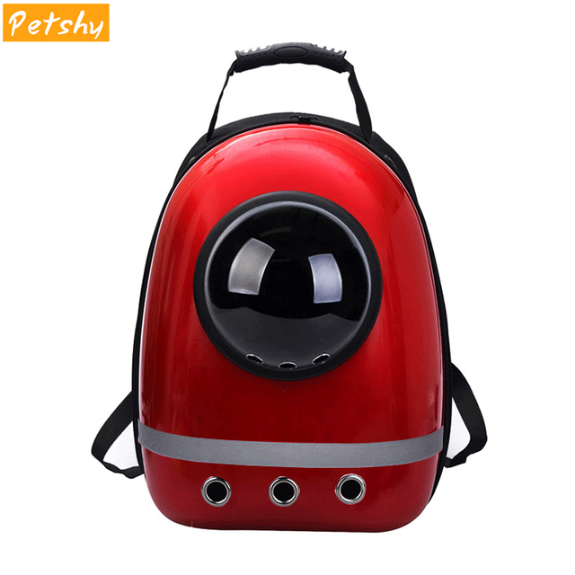 f3e9cd6f3f Petshy Pet Cat Backpack Bubble Window Kitty Puppy Outside Travel Breathable  Space Capsule Carrier Bags Portable Small Dog Bag