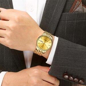 Image 3 - NIBOSI Heren Horloges Top Brand Luxe Zakelijke Quartz Gouden Horloge Mannen Vol Staal Mode Waterdichte Sport Klok Relogio Masculino