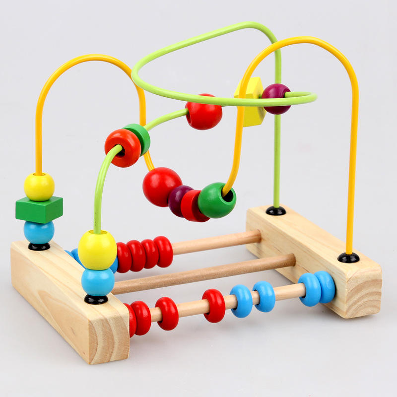 BabyToys Classic Toy Bead Maze Game Child Toys Wooden Building Blocks Toys gift Montessori Educational Intelligence Model Kits artistic wall mounted retro style bath towel shelf antique brass bathroom towel holder towel bar