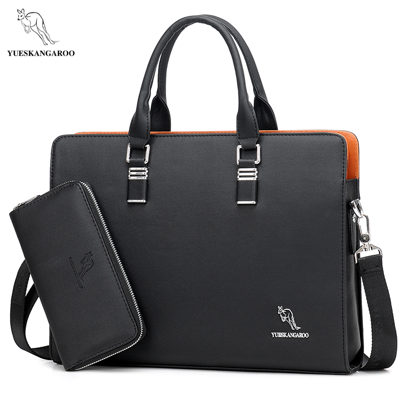 YUESKANGAROO Brand Men's Business Messenger Bags Handbag Men Crossbody Bag Laptop Bag Laptop Briefcase For Men Shoulder Bags redfox сумка full size business messenger 1000 черный