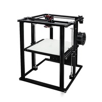 400 400 500 large size coreXY semi assembled DIY 3D printer with heated bed with meanwell power supply high quality build plate