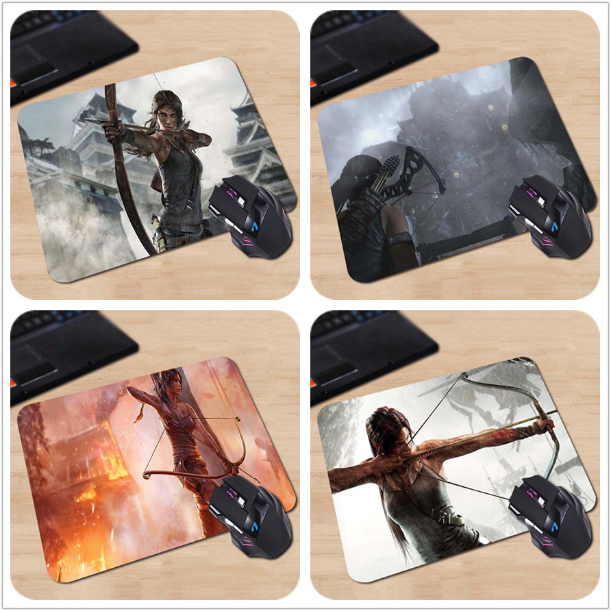 Babaite laracroft with a crossbow tomb raider Hot Sale Mouse Pad Computer Gaming MousePads 18*22cm and 25*29cm