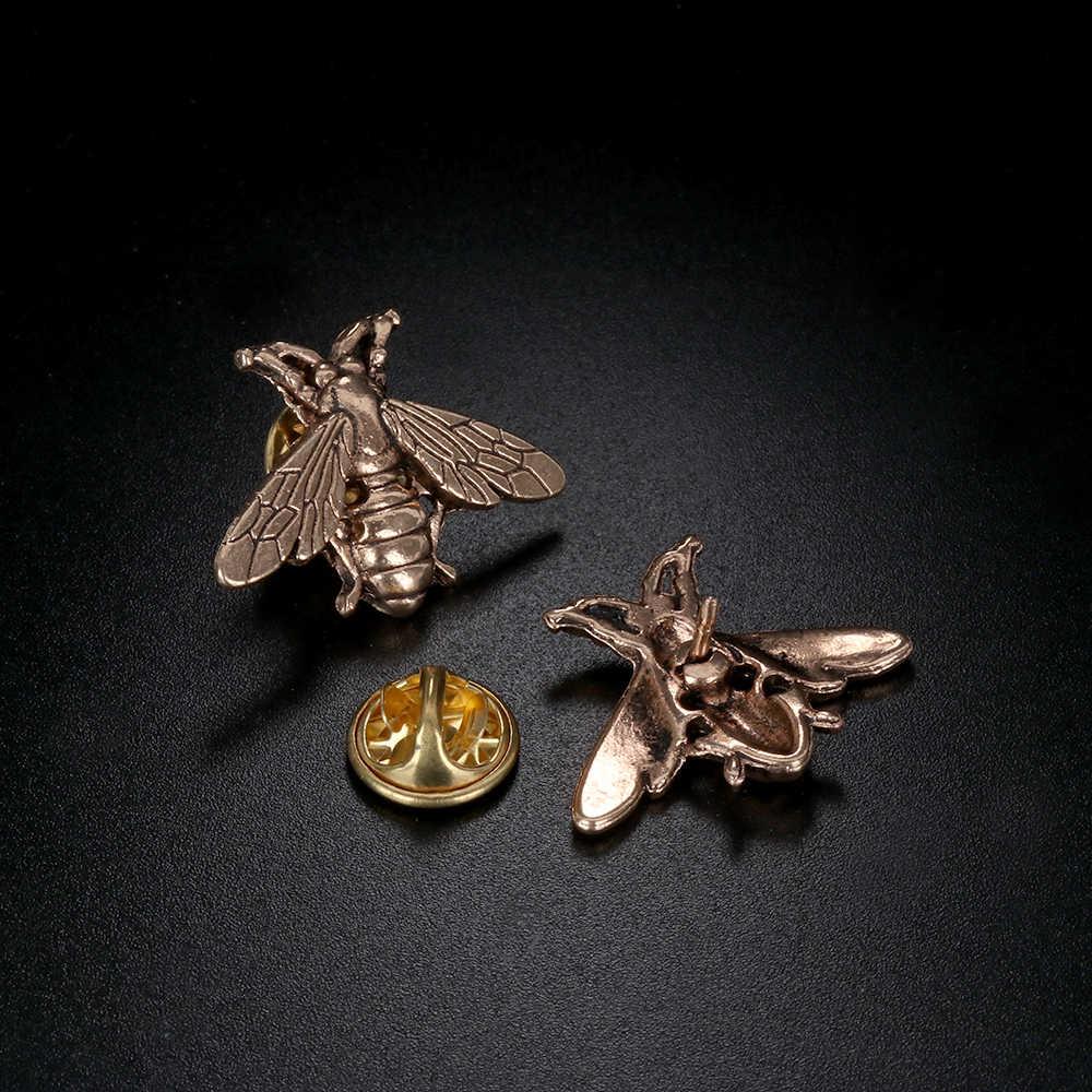 1/2 Pcs Bee Pin Bros untuk Wanita Aksesoris Hadiah untuk Bayi Indah Syal Pin Vintage Karl Perhiasan Kerah pin Topi Bayi Enamel