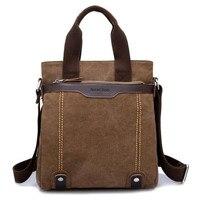 Local Lion Personality Handbag Anti Theft Men Shoulder Bag High Grade Water Washed Canvas Satchel Business