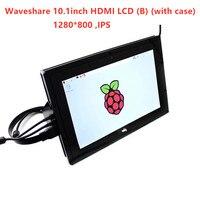 Waveshare 10,1 дюйма HDMI ЖК дисплей (B) 1280*800 емкостный дисплей монитор, ips Сенсорный экран, для Raspberry Pi, банан Pi, BB Черный WIN10