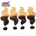 Free Shipping 4pc Ombre 1B #613 Body Wave VIRGIN Hair Extension Brazilian Hair  OMBRE Body Wave 1B #613 Ombre Hair Extension
