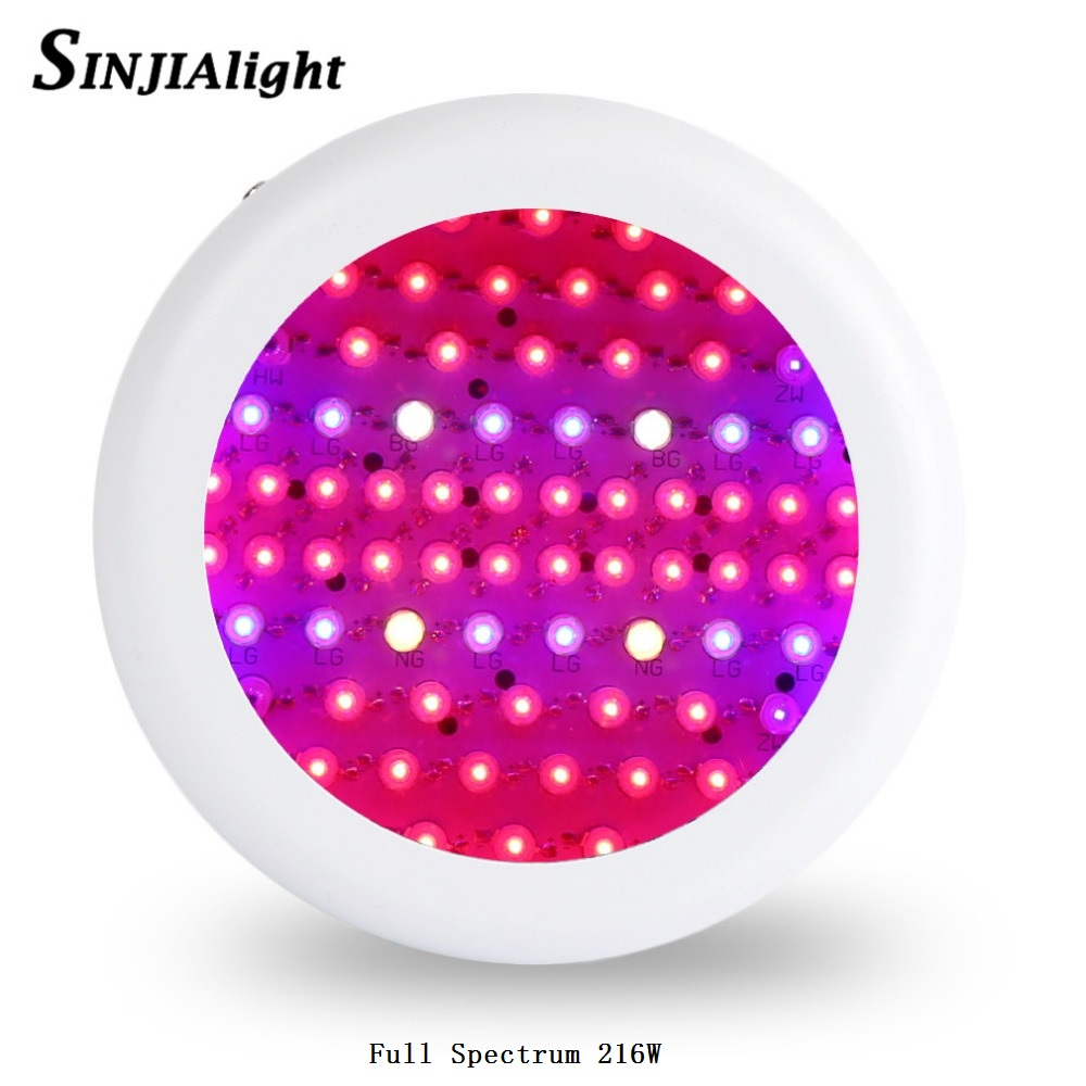 Full Spectrum 216W UFO LED Grow Light Indoor plant growth lamp Red+Blue+warm white+white+IR+UV led plant lights for grow tent full spectrum ufo 150w led grow light led plant lamp uv ir tent lighting for flowering plant and hydroponics grow box x 16pcs