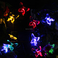 Colorful Butterflies LED Solar String Lights 4.8 M 20 LEDs Lamps Light For Garden  Decoration Waterproof Outdoor Lighting