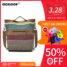 EXCELSIOR повседневное сумки для женщин высокое качество Холст Crossbody сумка Лоскутная большой ёмкость sac основной Multi применение