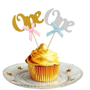 Image 5 - Первый товар, топперы для торта и капкейков, мой первый вечерние чный декор, дети, мальчик, девочка, я один год, поставки, розовый, синий