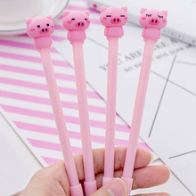 Pink Pig Shape Shell Gel Pen DIY Office Stationery and School Supplies Smooth Writing Black Blue Ink 0.38mm 1PCS