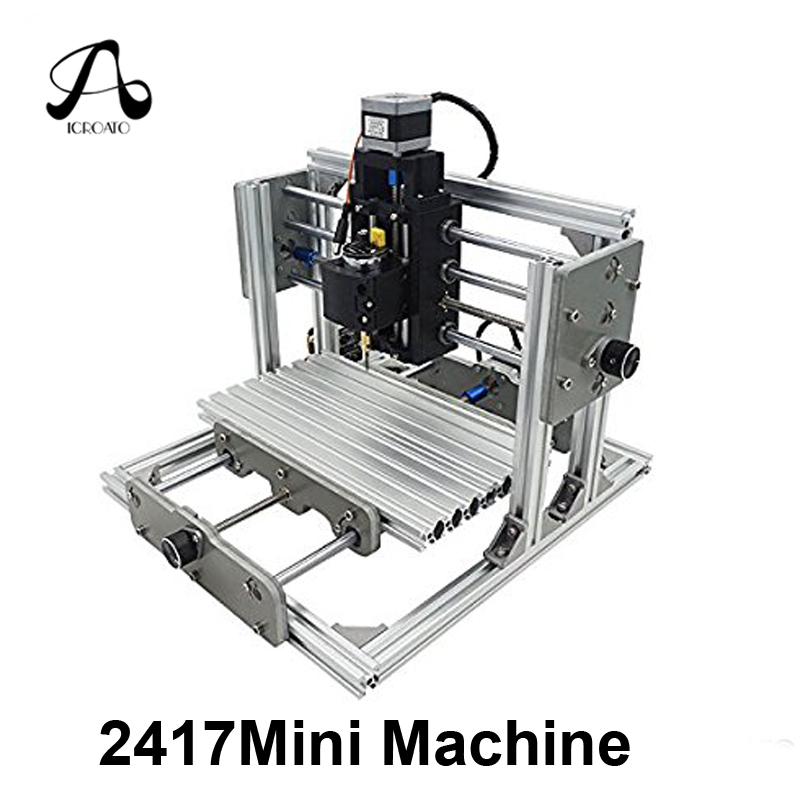 ICROAT0 Mini Machine CNC 2417 DIY CNC Engraving Machine 3Axis Mini PCB PVC Milling Machine Metal Wood Carving Machine CNC Router cnc 3040 cnc router cnc machine 3 4 5 axis mini engraving machine woodworking tools diy hy 3040 high quality metal acrylic