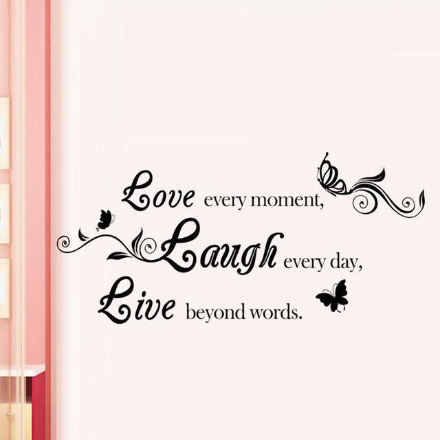 love/laugh/live wall sticker