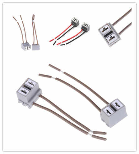 Soket Adaptor Rangkaian Kabel Soket Mobil Auto Kawat Kabel Konektor Plug untuk H7 HID LED Lampu Kabut Lampu Lampu Bohlam 2 Pcs