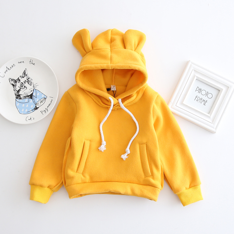 1-5Yrs Children Hooded Sweatshirt Boys Cute Bear Ears Animal Hoodies Unisex Kids Clothing Girls Tops Coats Baby Casual Outwear