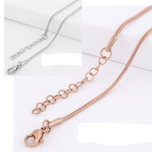 10pcs/lot Womens Mens Chain Unisex Boys Girls Stainless Steel Snake Twisted Chain Necklace Jewelry Fashion For Pendant