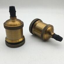 Золотая бронзовая Ретро лампа Эдисона E27 E26 декоративная винтажная подвеска патрон